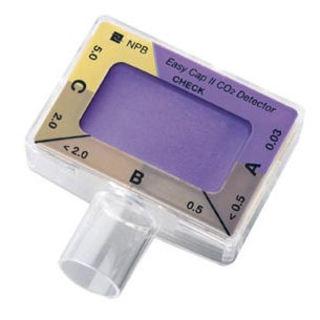 Colorimetric ETCO2 device connect to endotracheal tube